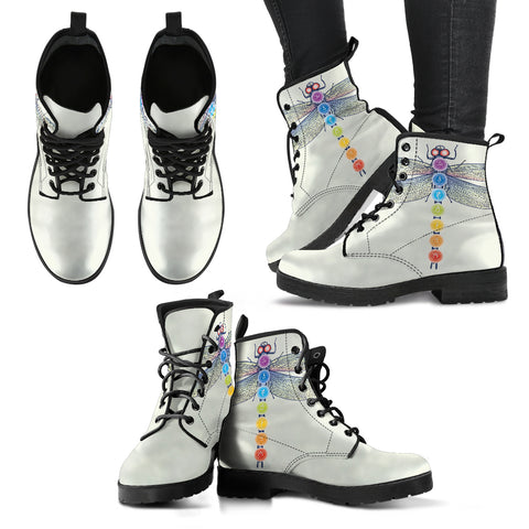 Chakra And Dragonfly Women's Leather Boots - Jabrichank.com