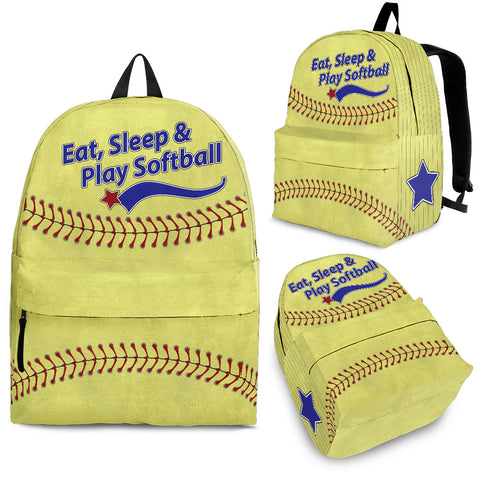 Eat Sleep & Play Softball - Jabrichank.com