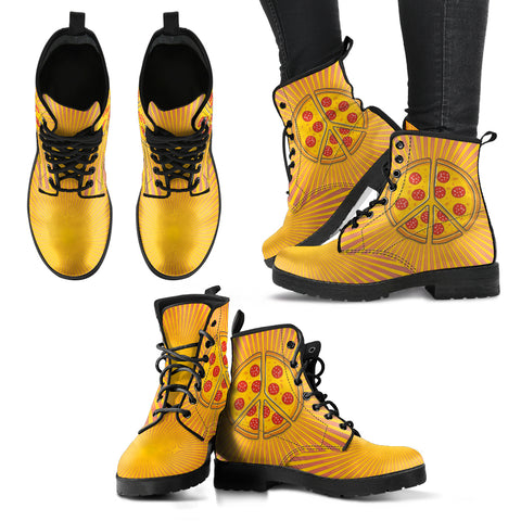 Pizza Peace Handcrafted Boots - Jabrichank.com