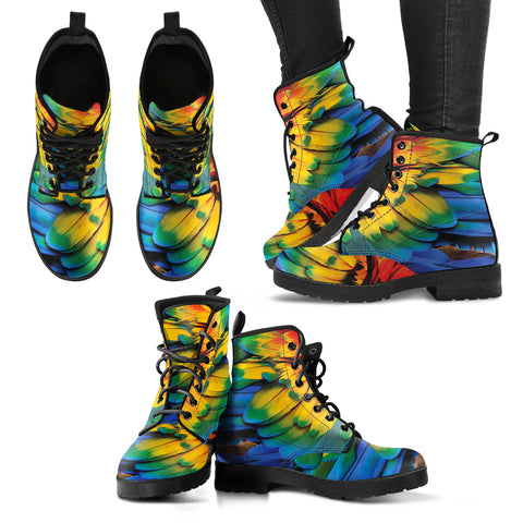 Colorful Feather Handcrafted Boots - Jabrichank.com