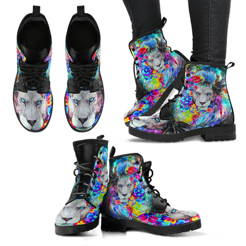 Colorful Lion Handcrafted Boots - Jabrichank.com