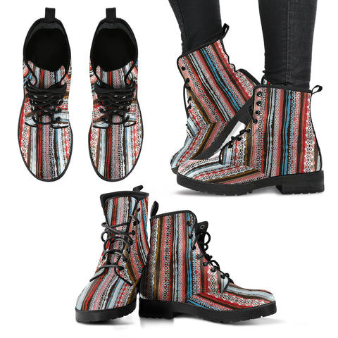 Bohemian Stripe Handcrafted Boots - Jabrichank.com