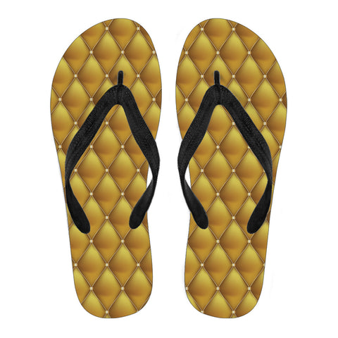 Exclusive Golden Pattern Women's Flip Flops - Jabrichank.com