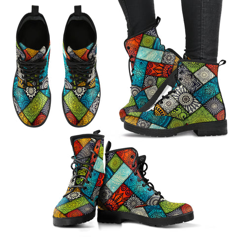 Boho Pattern Handcrafted Boots - Jabrichank.com