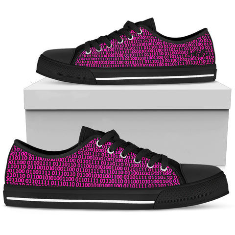 Binary Love Pink AMBRO Low Tops Black - Jabrichank.com