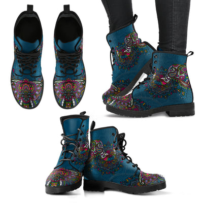Colorful Elephant Handcrafted Boots - Jabrichank.com