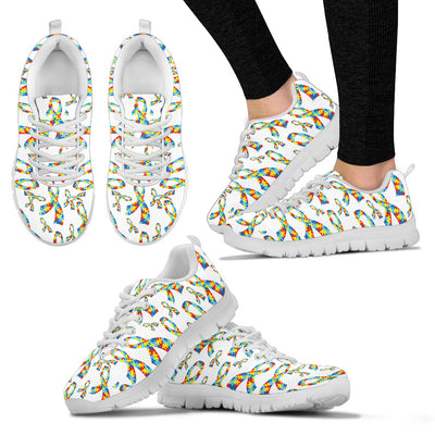 Womens Autism Awareness Ribbon Sneakers. - Jabrichank.com