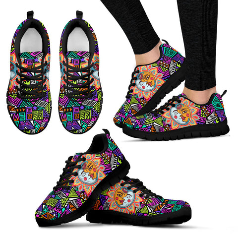 Womens Multi-Color Sun and Moon Sneakers - Jabrichank.com