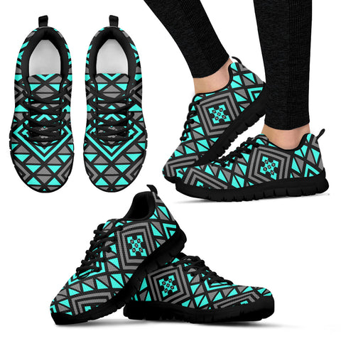 Boho Seamless Blue Pattern Sneakers - Jabrichank.com