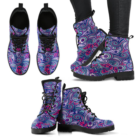 Colorful Henna Handcrafted Boots - Jabrichank.com