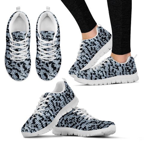 Black & White Mesh Running Shoes - Jabrichank.com