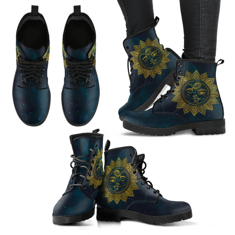 Sun and Moon HandCrafted Boots. - Jabrichank.com