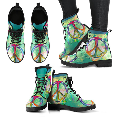 Colorful Peace Handcrafted Boots - Jabrichank.com