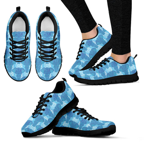 Blue Mandala Elephant Sneakers - Jabrichank.com