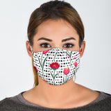 Dots With Tulip & Poppy Protection Face Mask - Jabrichank.com