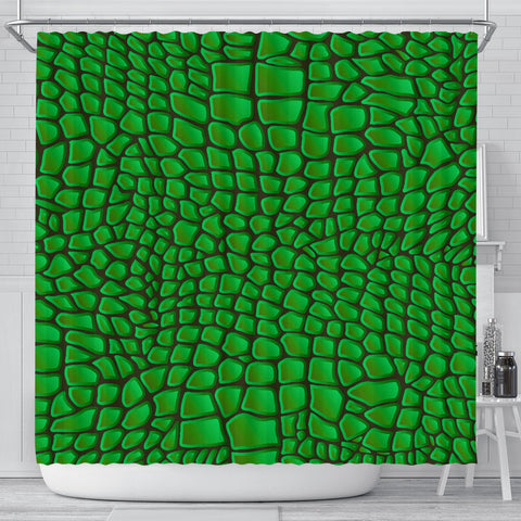 In Love With Crocodile Shower Curtain - Jabrichank.com