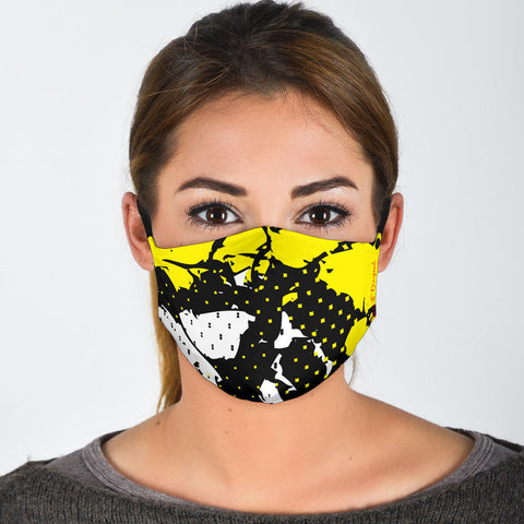 Exclusive Racing Style Black & Neon Yellow Design Protection Face Mask - Jabrichank.com