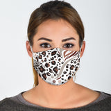 Leopard Style on White Protection Face Mask - Jabrichank.com