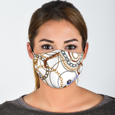 Design Luxury Gold Chains With Strap Protection Face Mask - Jabrichank.com