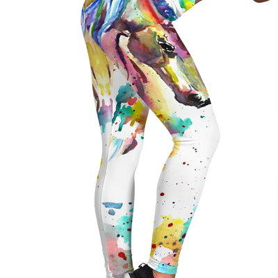 Watercolor Horse Leggings - Jabrichank.com