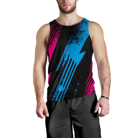 Colorful Racing Style Men's Tank Top - Jabrichank.com
