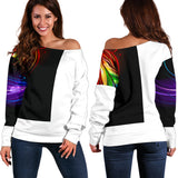 feather off shoulder sweatshirt - Jabrichank.com