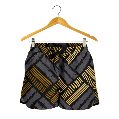 Glittering Gold Love Women's Shorts - Jabrichank.com