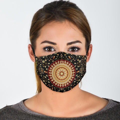 Exclusive Ornamental Mandala Design Three Protection Face Mask - Jabrichank.com