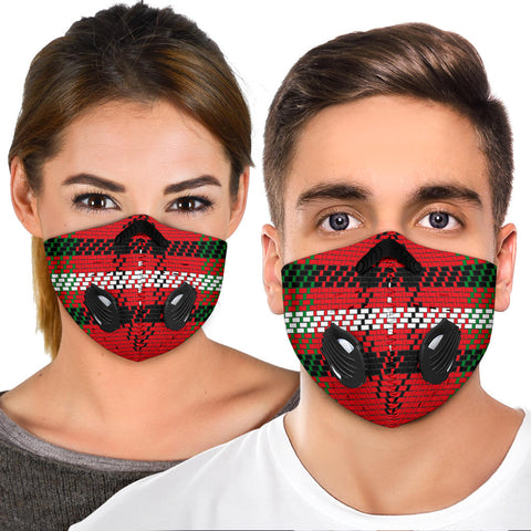 Classic Red & Green Tartan Design Premium Protection Face Mask - Jabrichank.com