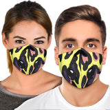Leopard Design Style in Lovely Yellow & Pink Vibes Premium Protection Face Mask - Jabrichank.com
