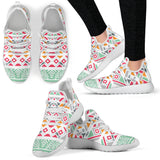 Colorful Ethnic Ornaments with Marble 2 Mesh Knit Sneakers - Jabrichank.com