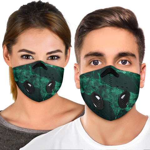 Emerald Green Real Marble Design Premium Protection Face Mask - Jabrichank.com