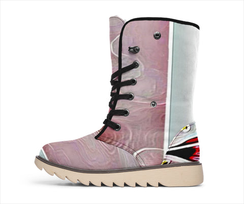 Floral Embosses: Pictorial Cherry Blossoms 01-03 Polar Boots - Jabrichank.com