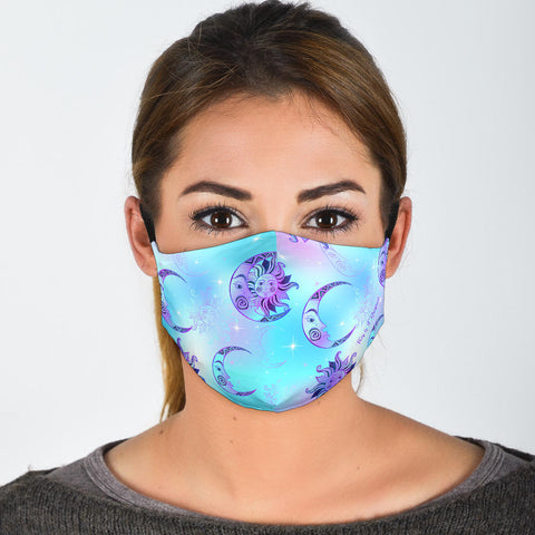Colorful Sun & Moon Protection Face Mask - Jabrichank.com
