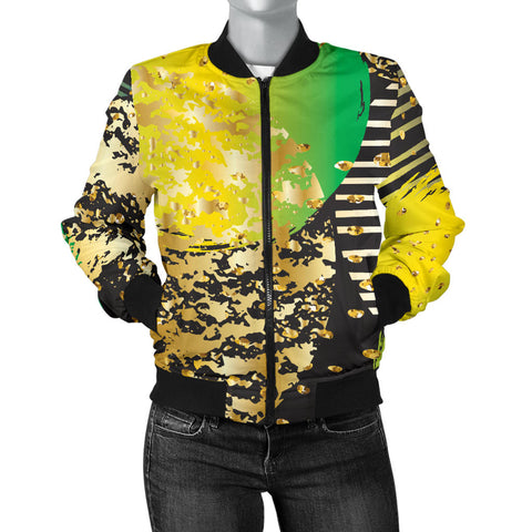 Energizing Neon Dots Women's Bomber Jacket - Jabrichank.com