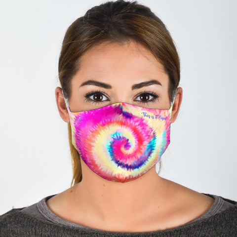 Colorful Tie Dye Art Design One Protection Face Mask - Jabrichank.com