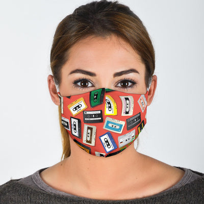 80'S Cassette Tape Art Protection Face Mask - Jabrichank.com