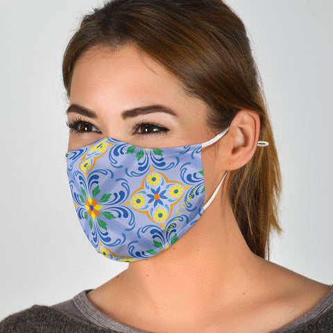 Classic Luxury Ornamental Design One Protection Face Mask - Jabrichank.com