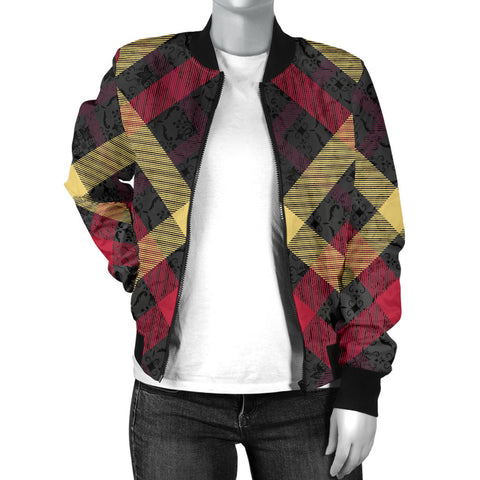 Exclusive Tartan Women's Bomber Jacket - Jabrichank.com