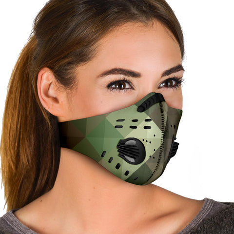 Geometric Army - Camouflage Design One Premium Protection Face Mask - Jabrichank.com