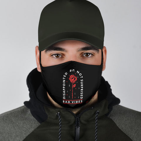 Disappointed But Not Surprised - Bad Vibes Protection Face Mask - Jabrichank.com