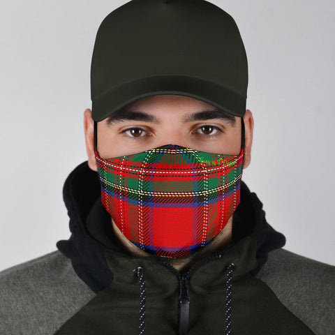 Classic Scottish Tartan Red & Green Protection Face Mask - Jabrichank.com