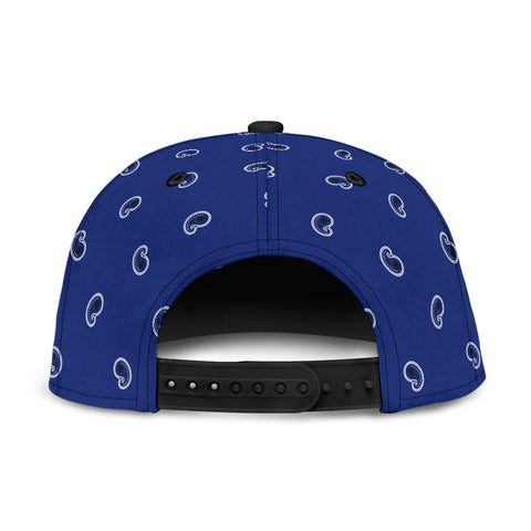 Royal Blue Paisley Snapback Hat - Jabrichank.com