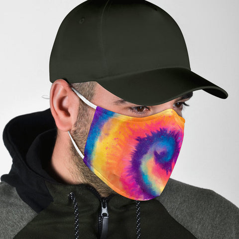 Colorful Tie Dye Art Design Two Protection Face Mask - Jabrichank.com