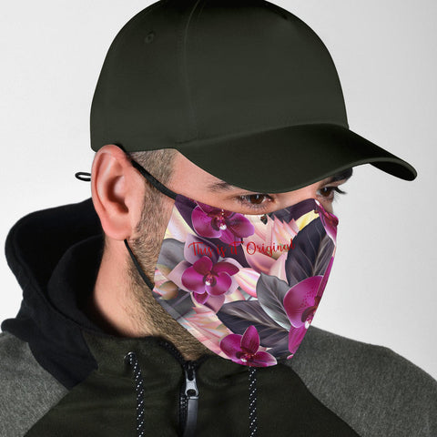Colorful Flowers Art Two Protection Face Mask - Jabrichank.com