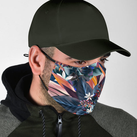 Colorful Flowers Art One Protection Face Mask - Jabrichank.com