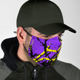 Exclusive Racing Style Violet & Yellow Design Protection Face Mask - Jabrichank.com