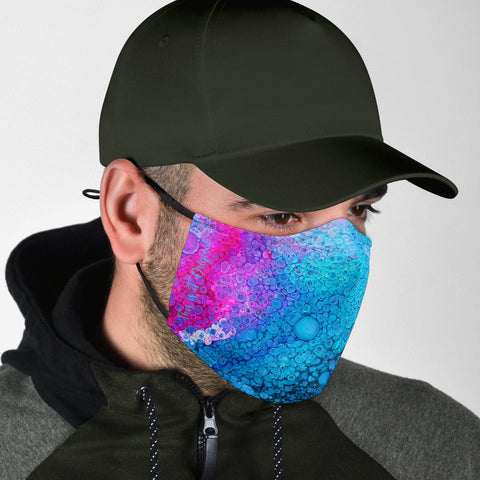 Exclusive Marble Design in Light Blue & Shinny PinkStyle Protection Face Mask - Jabrichank.com