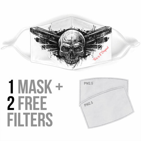 Drawn Skull Head Protection Face Mask - Jabrichank.com