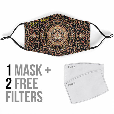 Exclusive Ornamental Mandala Design One Protection Face Mask - Jabrichank.com